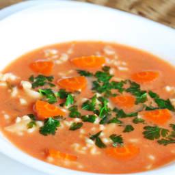 Tradycyjna zupa pomidorowa Mamy