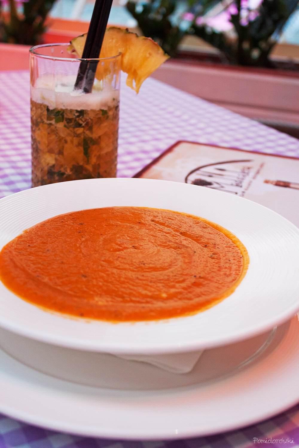 krem z pomidorow la maddalena wroclaw