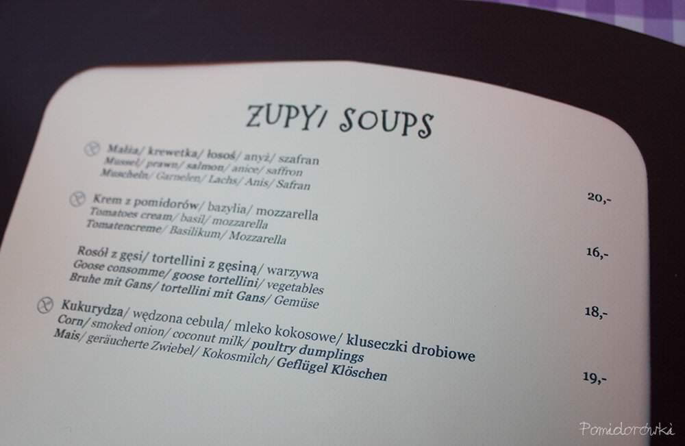 menu zupy la maddalena