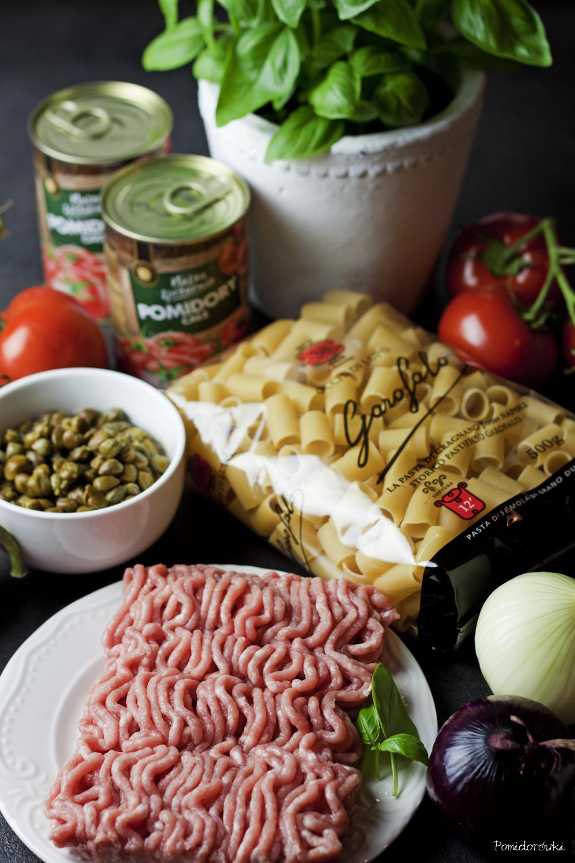 składniki dania na obiad