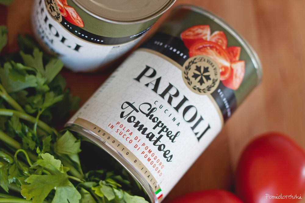 pomidory w puszce Parioli