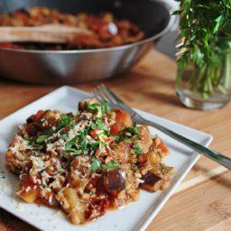 Kaszotto z pomidorami i bakłażanem – kocham pęczak!